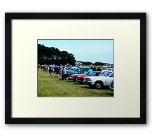 The Rally Line-up Framed Print