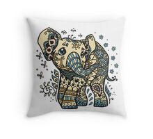 Mandala elephant Throw Pillow