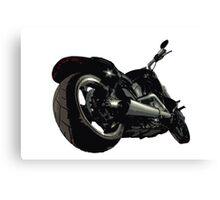 Harley Davidson Fatboy illustration Canvas Print