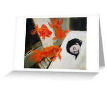 goldfish dreaming Greeting Card