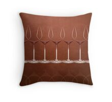 wineglass - graphic Throw Pillow