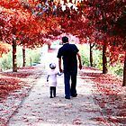 Daddy and Daughter in Autumn by Jenna Florescu