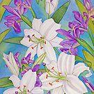 Lilies and Iris by joeyartist