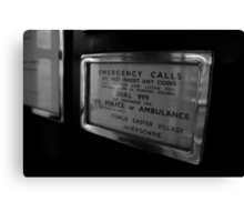Emergency Calls Canvas Print