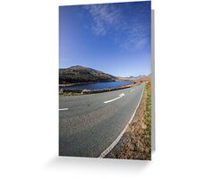 The Road To Snowdon Greeting Card