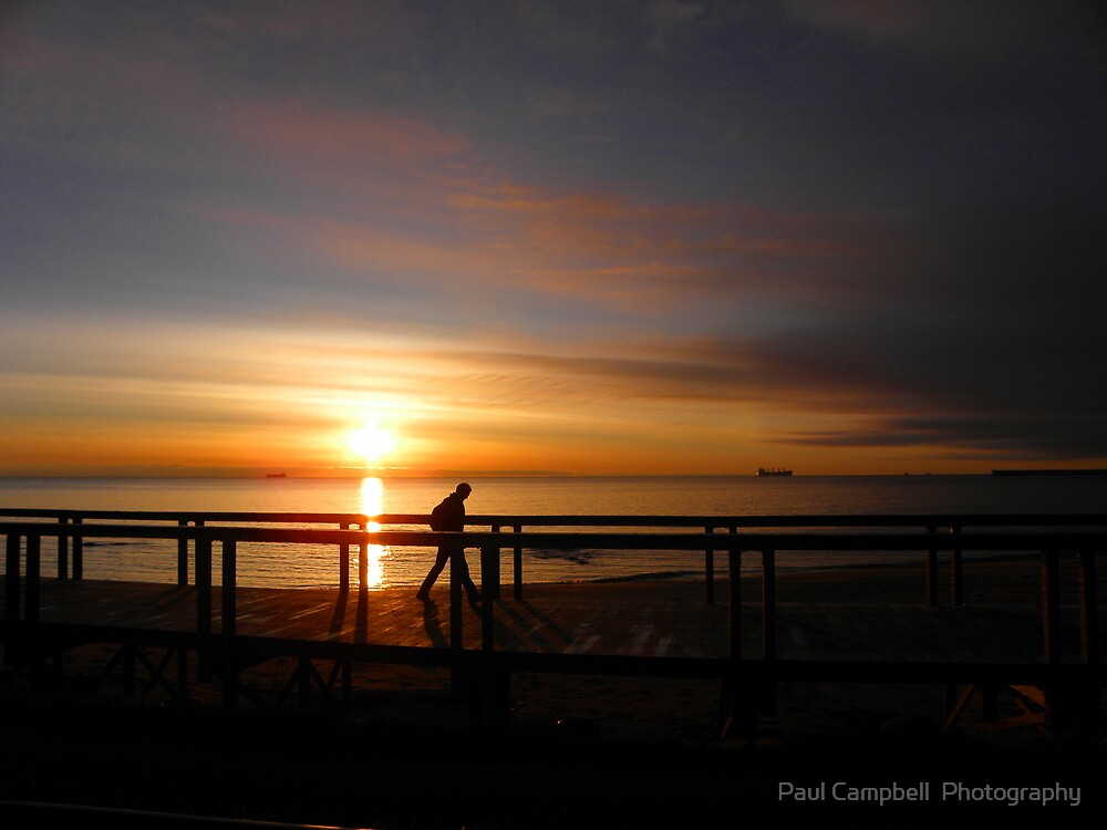 A Board-walk Sunrise by Paul Campbell  Photography