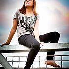 Gorgeous Teen perched on bridge by Jenna Florescu