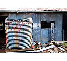 Rusty Water Tank # 1  Photographic Print
