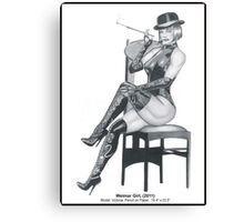 Weimar Girl, A study in pencil Canvas Print