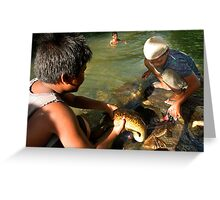 Sacred Eels of the Lasialap - Pohnpei, Micronesia Greeting Card