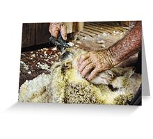 SHEARERS HANDS Greeting Card