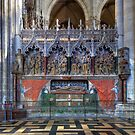 Monument to St Firmin, Amiens Cathedral, Somme, France by Bob Culshaw