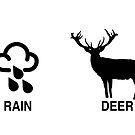 It's only rain, deer (christmas pun) by redcow