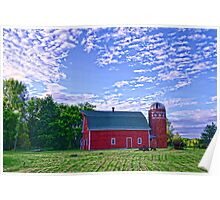 Andover Red Barn Poster