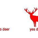Yes deer no deer Christmas mug by redcow