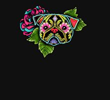 Day of the Dead Pug in Black Sugar Skull Dog Unisex T-Shirt