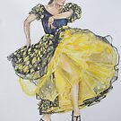 Flamenco - Yellow by Anastasia Zabrodina