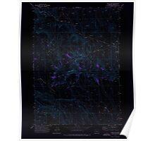 USGS Topo Map Oregon Circle Bar 279357 1972 24000 Inverted Poster