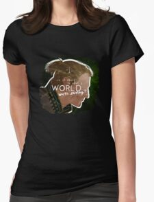 Anders - A World Worth Saving Womens Fitted T-Shirt