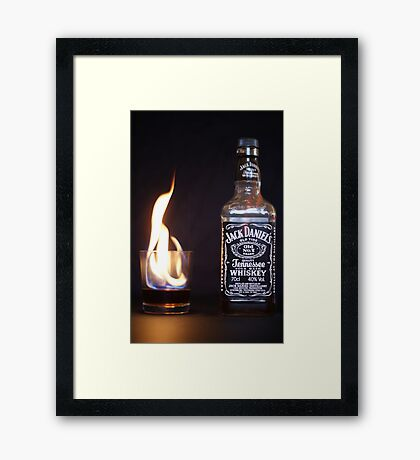 Flaming JD  Framed Print