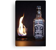 Flaming JD  Canvas Print