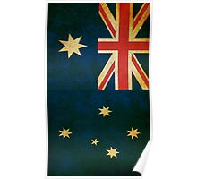 Vintage Grunge Australian Flag Poster