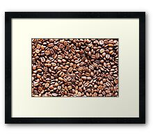 Roasted Coffee Beans Texture Framed Print