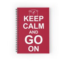 KEEP CALM AND GO ON - Go Programmer Spiral Notebook