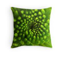 Green Vortex  Throw Pillow