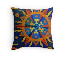 Sun dial design Throw Pillow