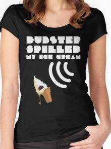 Dubstep Spilled My Icecream - Vanilla Women's Fitted Scoop T-Shirt