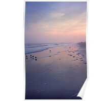 Beach at Dusk Poster