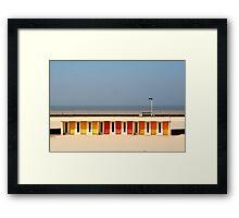 Le Touquet Beach Huts Framed Print
