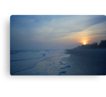 Beach and Sunset Canvas Print