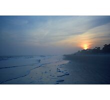 Beach and Sunset Photographic Print