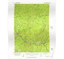 USGS Topo Map Oregon Illahee Rock 282600 1955 62500 Poster