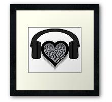 Love Music rhythm heart beat Framed Print