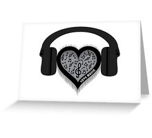 Love Music rhythm heart beat Greeting Card