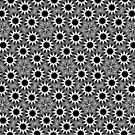 Monomax Starburst | Black White Pattern by webgrrl