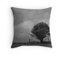 Tree and Sky in Black and White Throw Pillow