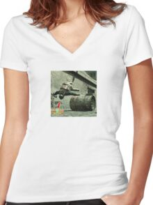 Metal gear solid t shirt funny gamer shirt Women's Fitted V-Neck T-Shirt
