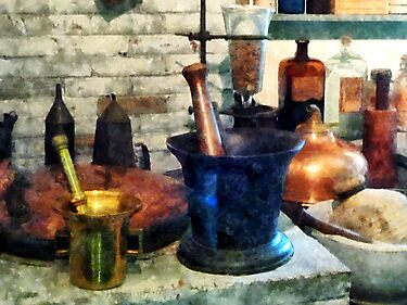 Three Mortar and Pestles by Susan Savad