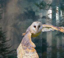 owl at midnight Sticker