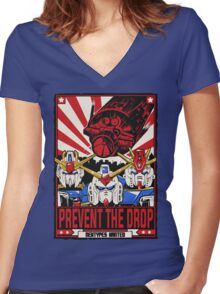 Prevent the Drop Women's Fitted V-Neck T-Shirt