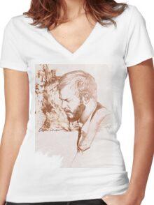 Bon Iver / Justin Vernon Women's Fitted V-Neck T-Shirt