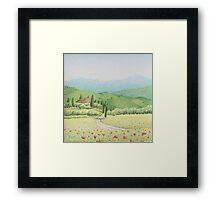 Tuscan Vineyard, Tuscany, Italy Framed Print