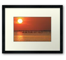 Point Lookout at Sunset Framed Print