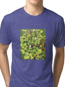Lily Pond, Clowance, Cornwall Tri-blend T-Shirt