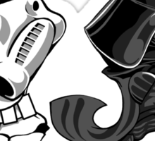 Fighting Empire - Fighting Irish Mashup with Stormtrooper and Vader Sticker