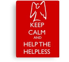 Help the helpless Canvas Print